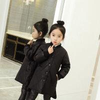 女童皮衣外套秋装2017新款韩版女大童儿童装中长款小男孩夹克潮 黑色