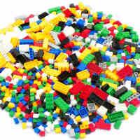 沃马益智拼装积木玩具1000颗粒DIY创意多种颗粒小颗粒积木散装