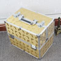 铝合化妆包多层带锁定型水化妆箱大号大容量简约收纳包