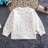 婴儿保暖衣宝宝薄棉上衣秋季纯棉加厚内衣夹棉秋衣长袖开衫