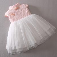 女童连衣裙夏装 儿童大童蕾丝纱裙女孩童装公主裙子6-7-8-9-10岁
