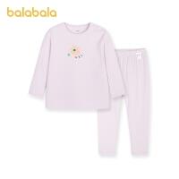 巴拉巴拉儿童保暖内衣套装女童秋衣秋裤套装棉氨柔软舒适春季新款