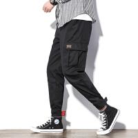 日系宽松男士小脚裤束脚裤2019休闲裤九分裤