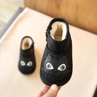 宝宝雪地靴女童棉靴男童短靴婴儿亮片棉鞋季儿童0-3岁保暖靴子1