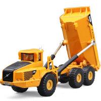 凯迪威1:87翻斗车620007合金工程车模型铰接式自卸运输卡车汽车