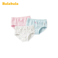 巴拉巴拉女童内裤女中大童儿童短裤女孩三角裤学生小童底裤三条装