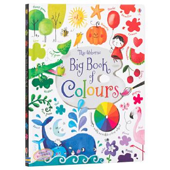 英文原版Usborne Big Book of Colours孩子的色彩启蒙全书 艺术启蒙 颜色识别 11大色系130余种颜色 早教启蒙认知 艺术启蒙童书 大开本纸板书