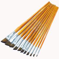 MONET莫奈 画笔1528 尼龙毛 斜头画笔 水粉 水彩油画笔 丙烯 手绘板刷