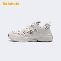 巴拉巴拉儿童运动鞋童鞋女鞋子2019新款冬季大童老爹鞋保暖一棉女