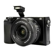索尼(SONY)ILCE-6000L APS-C微单单镜套机 黑色(2430万有效像素 16-50mm镜头 F3.5-