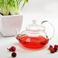 650ML耐热玻璃花茶壶大容量创意玻璃高把压盖茶壶功夫茶具套装玻璃茶具凉杯茶壶家用瓶耐热
