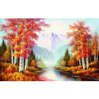 1000片木质拼图定制500手绘油画风景家居装饰画 晚秋