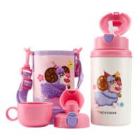 【限时秒杀】杯具熊(BEDDYBEAR)十二星座系列儿童保温杯带吸管316不锈钢保温壶三盖580ml 3D版-白羊座