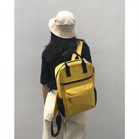 电脑包女双肩手提15.6英寸13苹果联想小米14笔记本小清新时尚背包 黄色 游戏本下单备注