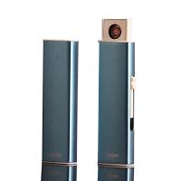 创意防风USB充电打火机点烟器双面点火GX-258个性男士防风超薄感应电子点烟器送男友