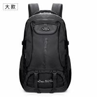 旅行包双肩包运动多功能背包男大容量女徒步旅游防水登山包行李包 黑色大款 85升
