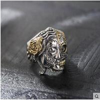 男款戒指个性时尚韩版指环 泰银925银骷髅
