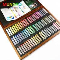 韩国MUNGYO盟友专业72色色粉笔木盒套装美术粉画笔染发蜡笔粉画棒