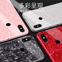 免邮 小米手机壳 仙女贝壳小米MIX2S Note3保护套 小米5X 6X保护壳 防摔创意玻璃壳