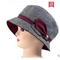 老年人女士帽子优雅妈妈时装帽中老人帽奶奶女中年布帽盆礼帽