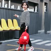 童装女童卫衣套装2018春装新款韩版中大童休闲儿童洋气运动两件套