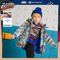 DC超人IP迷你巴拉巴拉儿童棉服2020冬季新款男童透气幼童棉服