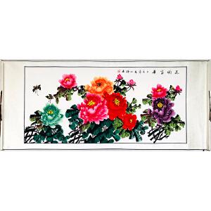 中国美术家协会会员 赵明锤《花开富贵》LL558