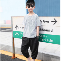 男大童夏装小学生男孩儿童衣服潮男童短袖运动套装