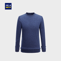 HLA/海澜之家半高领长袖毛衫2018冬季新品保暖舒适羊毛衫男