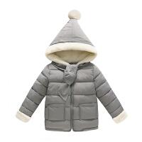 儿童羽绒童装宝宝棉衣男女童装外套加厚小棉袄 90cm 1岁