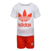 adidas originals阿迪三叶草2019男小童SHORT TEE SET短袖套服DW9709
