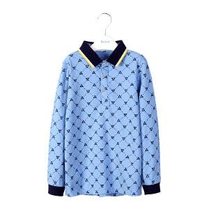 【3件3折 到手价:58.8元】水孩儿souhait男童时尚印花长袖T恤ATCCK502