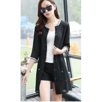 晒衣夏大码女装外套新款韩版开衫中长款披风外搭雪纺透气空调衫