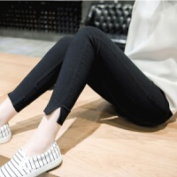 孕妇裤子白色孕妇打底裤薄款2018新款春装九分裤外穿长裤夏季潮妈
