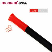 韩国monami/慕娜美04034-03三角杆水性笔 红色 水性笔中性笔漫画勾线笔绘画涂鸦大中小学生用标注重点12色可