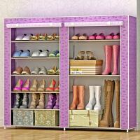 蜗家简易鞋柜鞋架 组装多层收纳防尘鞋架子现代简约0603C