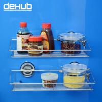 韩国进口吸盘 厨房置物架 壁挂 卫生间置物架 厨房收纳架子 不锈钢 银色