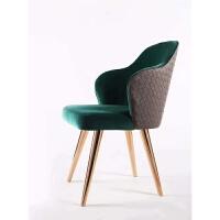 美式乡村实木餐椅北欧布艺椅子靠背椅子书桌椅休闲