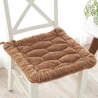 君别定做冬季加厚防滑保暖毛绒椅子垫办公室学生坐垫餐桌椅垫子可水洗