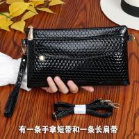 新款斜跨女包时尚休闲女士大容量手拿包女式手机零钱包亮面女小包 6006#黑色