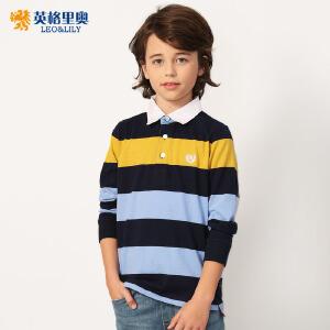 2018秋装新款男童条纹长袖T恤儿童翻领体恤衫中大童纯棉POLO衫潮