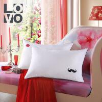 LOVO家纺 情侣对枕 纤维枕头枕芯 两色可选