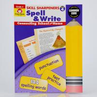 英文原版Skill Sharpeners Spell&Write, Grade 4拼写技巧