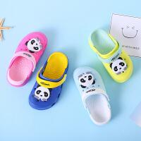 男童宝宝拖鞋夏滑儿童卡通洞洞鞋凉拖鞋 女童宝宝沙滩婴儿