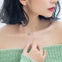 银致S925银项链女锁骨链日韩学生森系创意个性潮人百搭星星配饰