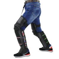 云博摩托车护膝保暖冬季骑车防寒防风户外骑行电动车护膝加厚加长护腿