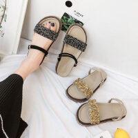 学生女鞋沙滩凉拖鞋女外穿新款时尚百搭松糕水钻两穿凉鞋