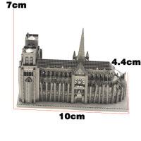 �燮� 全金��DIY 拼�b建筑模型 3D免�z拼�D 巴黎圣母院 大�版