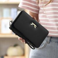 女士钱包长款韩版学生大容量饭盒手机包腕带手拿可爱软皮钱夹