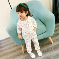 女宝宝新款套装春秋婴儿童装0-1-3岁半2休闲衣服女小童运动两件套